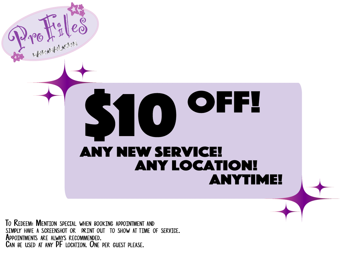 $10 off any new service, any location, any time. Mention the special while booking or print out to show at time of service.